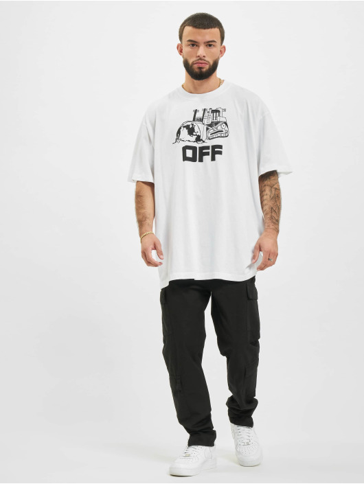 Off-White T-Shirty Caterpilla bialy