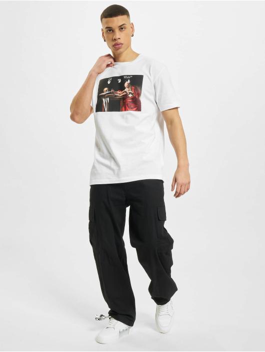 Off-White T-Shirty Caravaggio Slim bialy