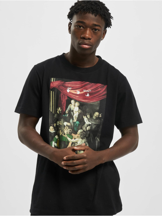 Off-White T-Shirty Carvag Painting S/S czarny