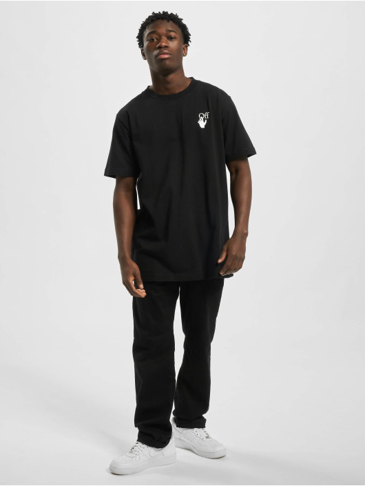 Off-White T-Shirty Agreement S/S czarny