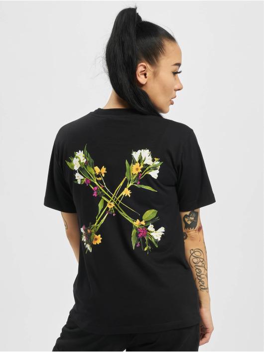 Off-White T-Shirty Flock Arrow Casual czarny
