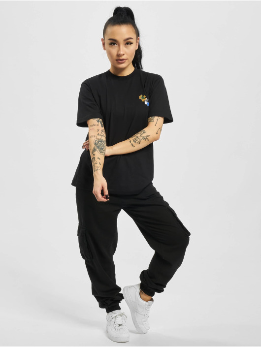Off-White T-Shirty Leaves Arrow Casual czarny
