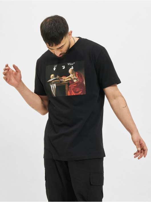 Off-White T-Shirty Caravaggio Slim czarny