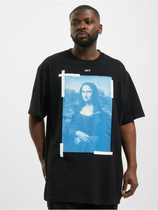 Off-White T-Shirty Monalisa czarny