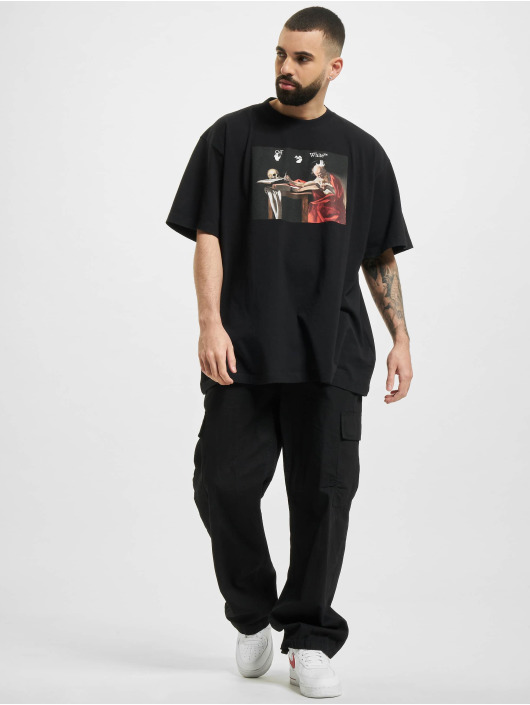 Off-White T-Shirty Caravaggio Over czarny