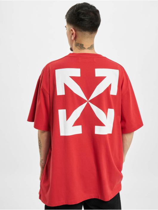 Off-White T-Shirty Pascal Print czerwony