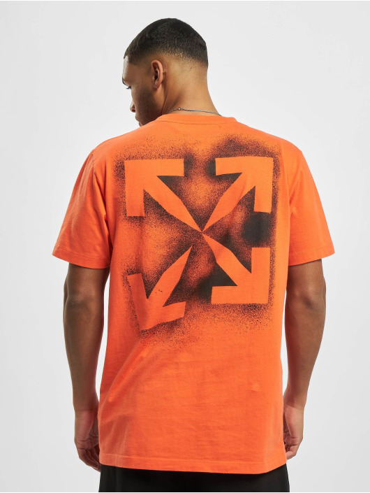Off-White T-Shirty Stencil S/S pomaranczowy