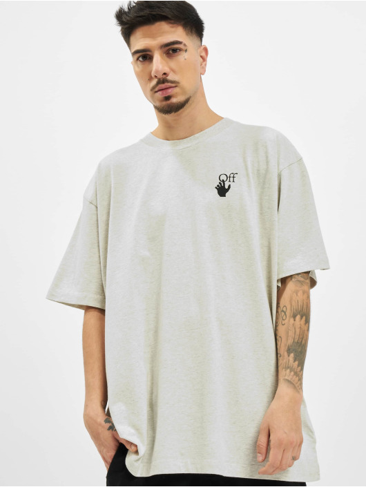 Off-White T-Shirty Agreement szary