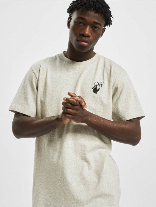 Off-White T-Shirty Agreement S/S szary