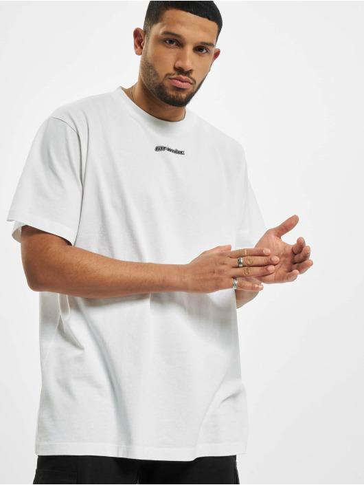 Off-White Tričká Marker S/S biela