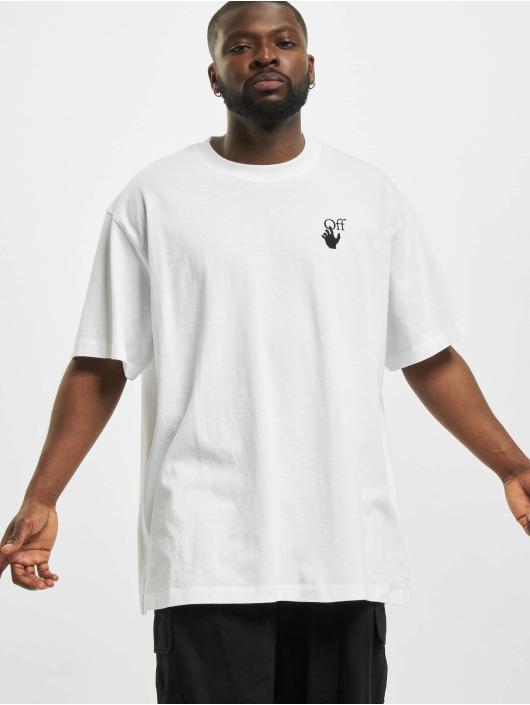 Off-White Tričká Marker S/S Over biela