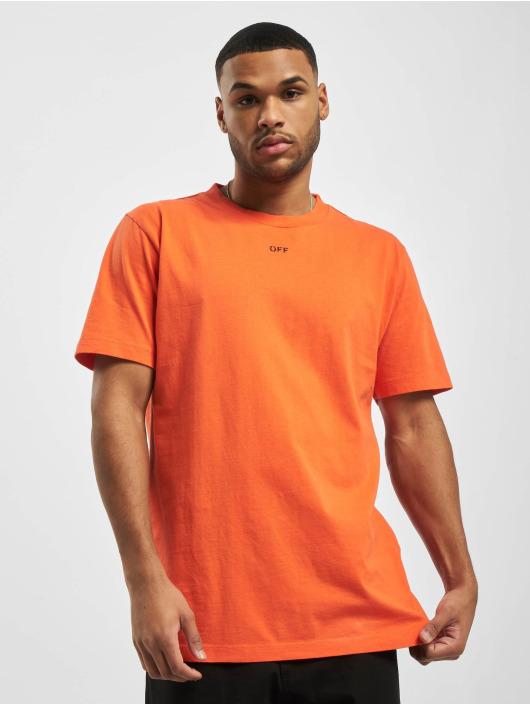 Off-White Trika Stencil S/S oranžový