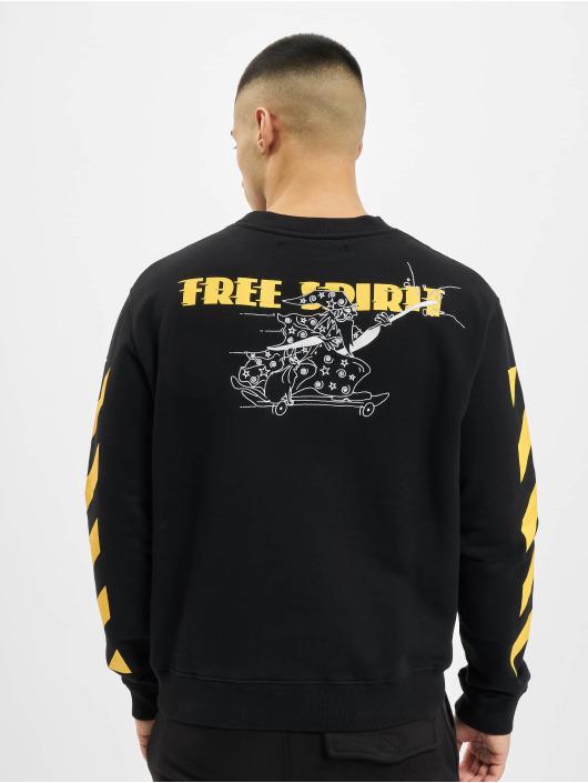 Off-White trui Diag Free Wizard Crewneck geel