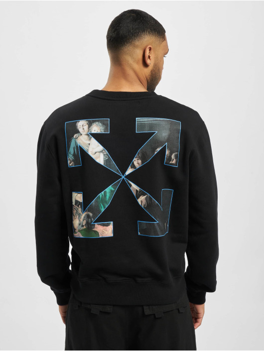 Off-White trui Caravag Painting Slim zwart