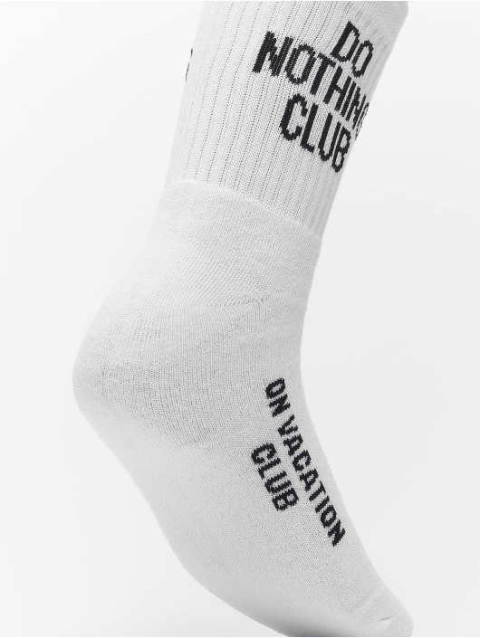 On Vacation Chaussettes Do Nothing Club blanc