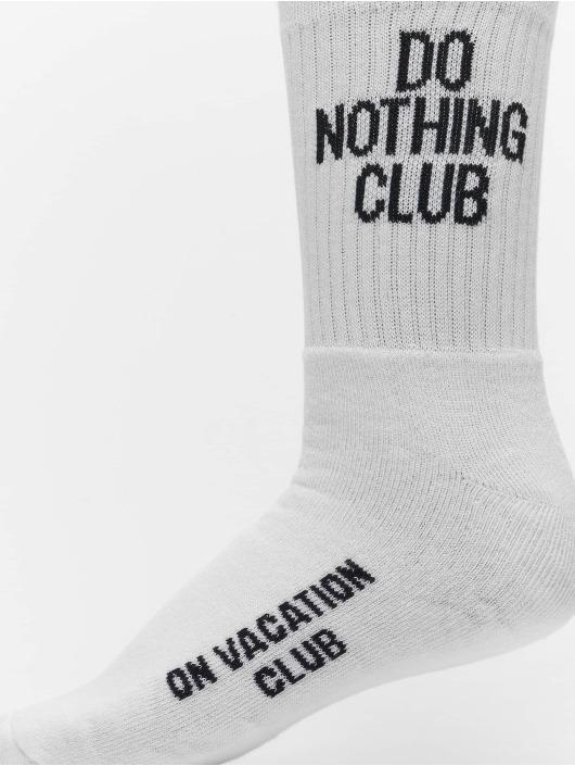 On Vacation Ponožky Signature biela