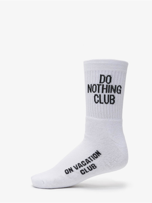 On Vacation Socks Do Nothing Club white