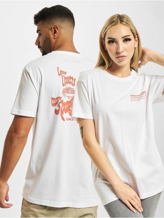 On Vacation T-shirt Less Upsetti bianco