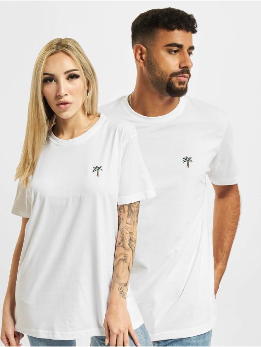 On Vacation T-Shirt Retro Palms white