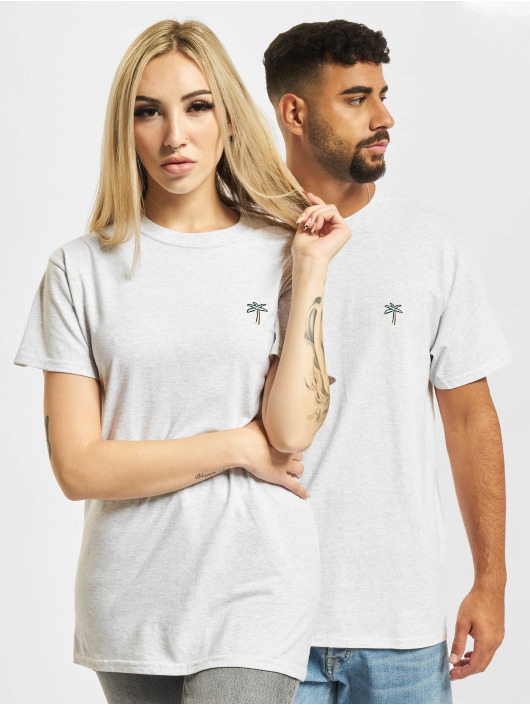 On Vacation T-skjorter Retro Palms grå