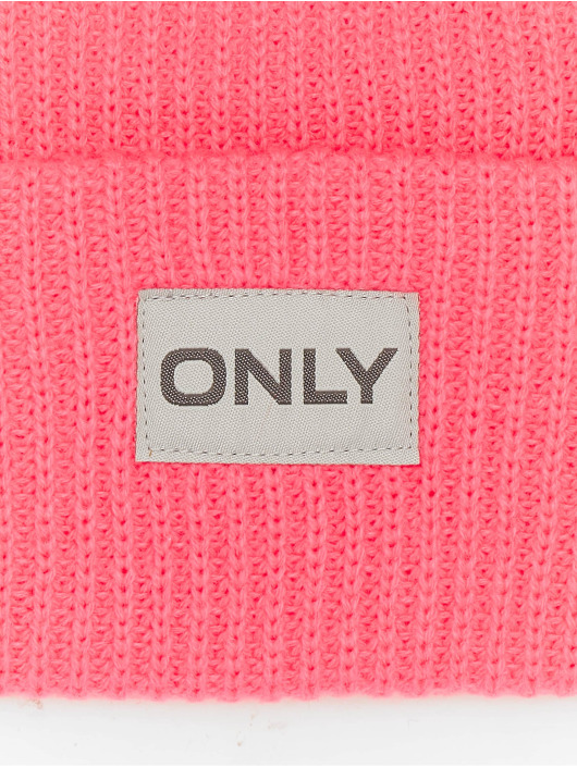 Only Čiapky onlPetunia Neon Ribbed pink