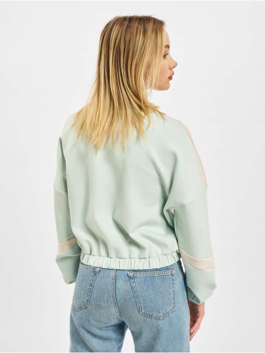 Only Демисезонная куртка Block Zip Highneck зеленый