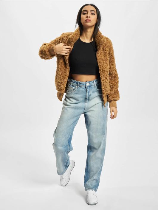Only Демисезонная куртка Ellie Sherpa коричневый