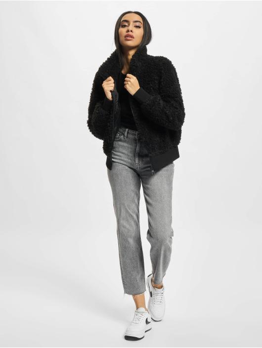 Only Демисезонная куртка Ellie Sherpa черный