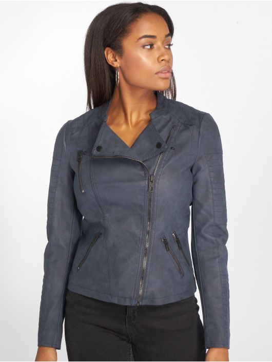 Only Кожаная куртка onlAva Faux Leather синий