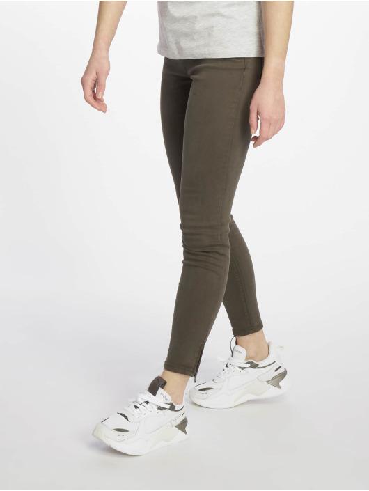 Only Облегающие джинсы onlSerena оливковый