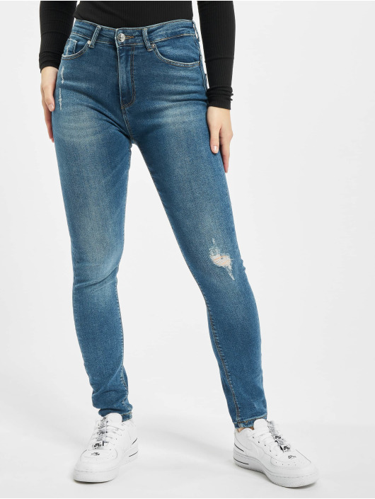 Only Облегающие джинсы onlPaola High Waist Ankle синий