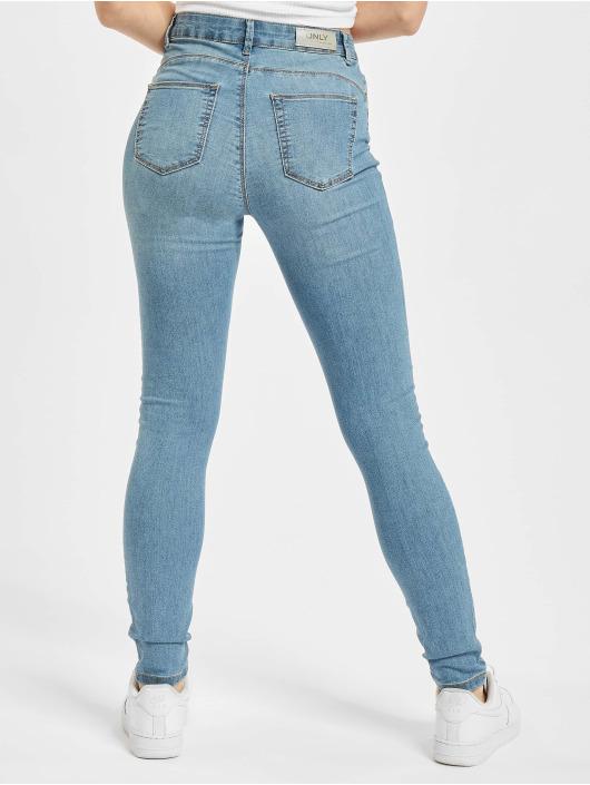 Only Облегающие джинсы Onliris Midankle Pushup синий