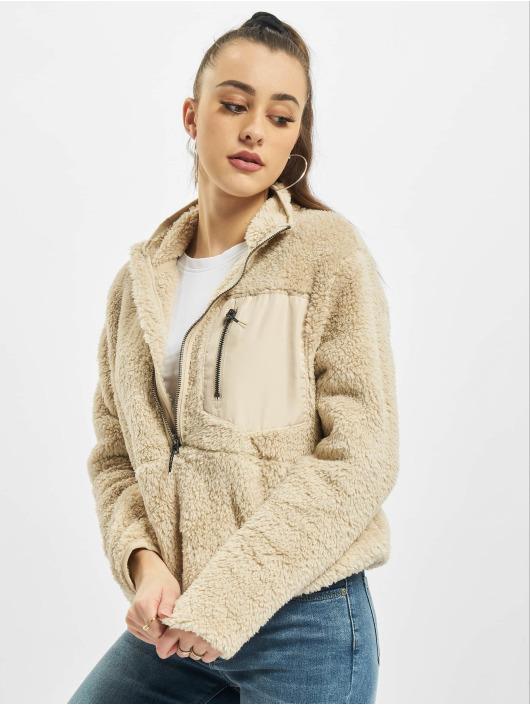 Only Пуловер onlDalina 1/2 Zip Teddy бежевый