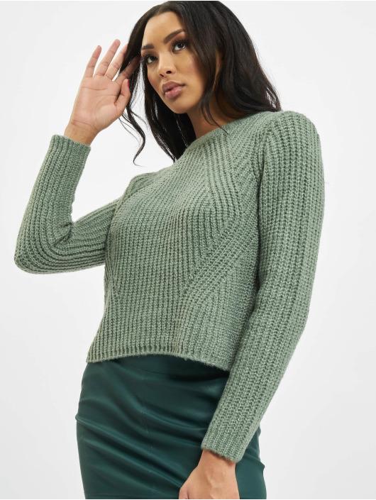 Only Пуловер onlFiona Knit зеленый