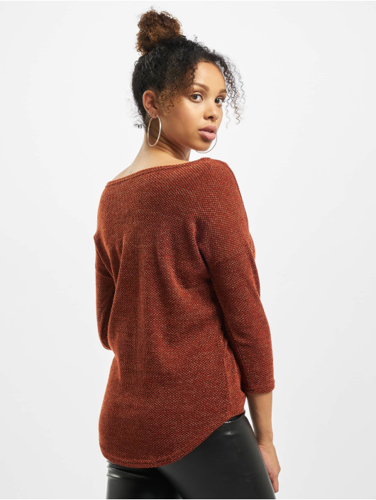 Only Пуловер onlAlba 3/4 Noos коричневый