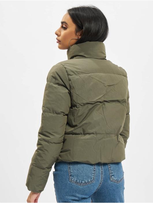 Only Стеганая куртка Onldolly Short оливковый