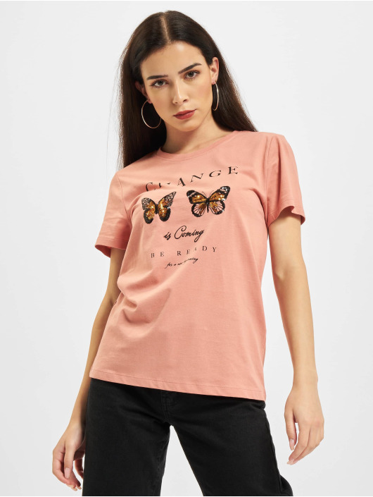 Only Футболка Onlkita Life Butterfly Box JRS розовый