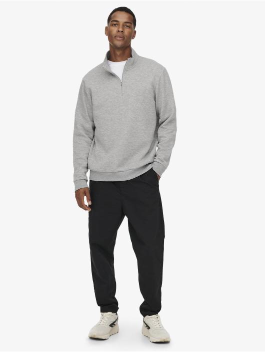 Only & Sons Пуловер Onsceres серый