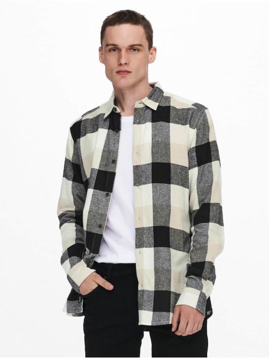 Only & Sons Рубашка Onsgudmund Check белый