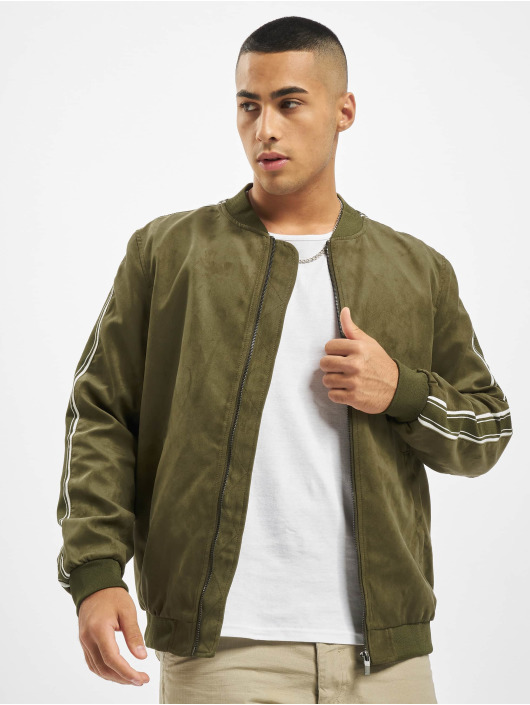 Only & Sons Bomber jacket onsJacob Fake Suede olive