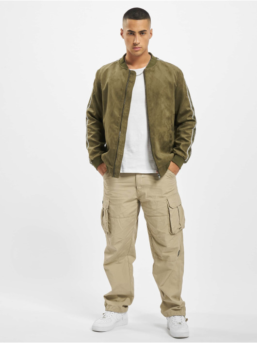 Only & Sons Bomberjacke onsJacob Fake Suede olive
