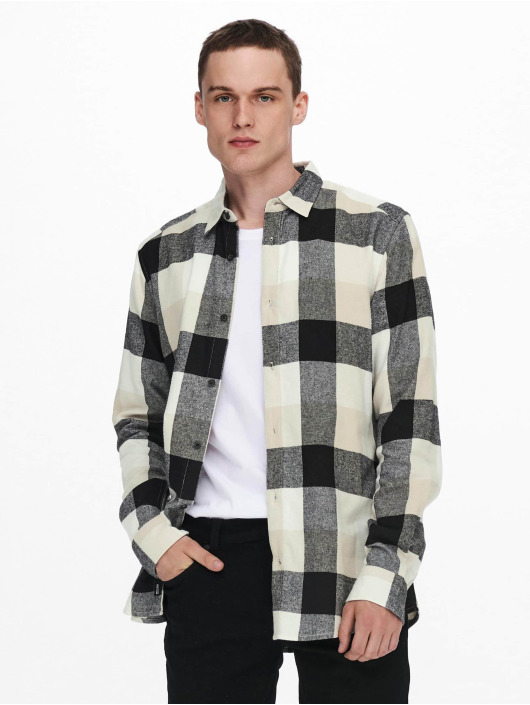 Only & Sons Camicia Onsgudmund Check bianco