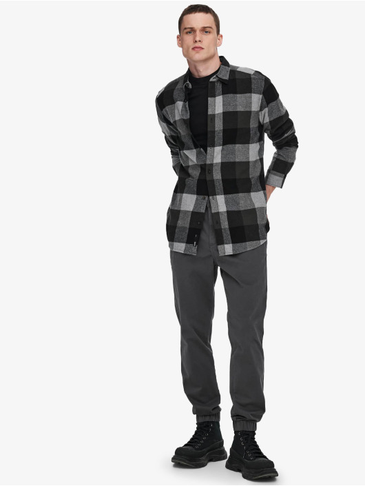 Only & Sons Camicia Onsgudmund Check grigio