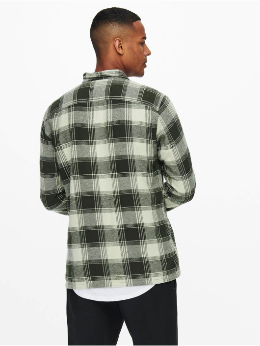 Only & Sons Camicia Onsnadal  Flannel grigio