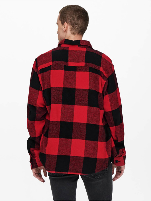 Only & Sons Camicia Onsmilo Life rosso