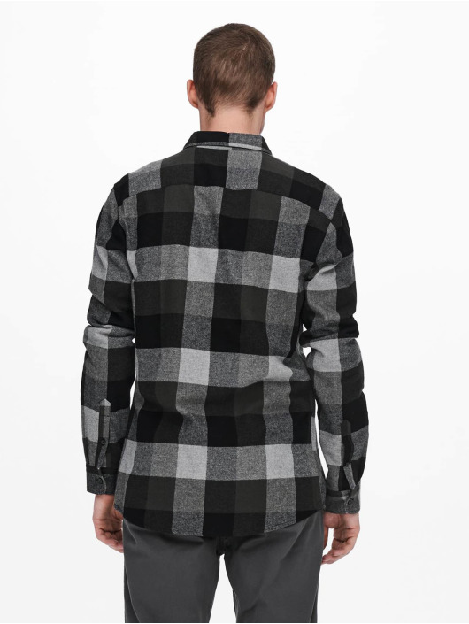 Only & Sons Camisa Onsgudmund Check gris