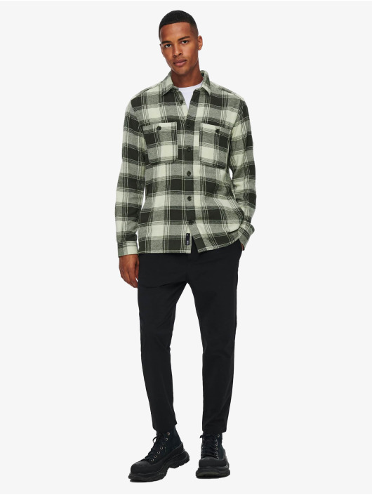 Only & Sons Camisa Onsnadal  Flannel gris