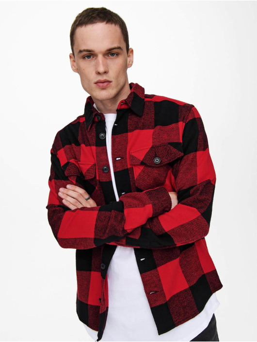 Only & Sons Camisa Onsmilo Life rojo