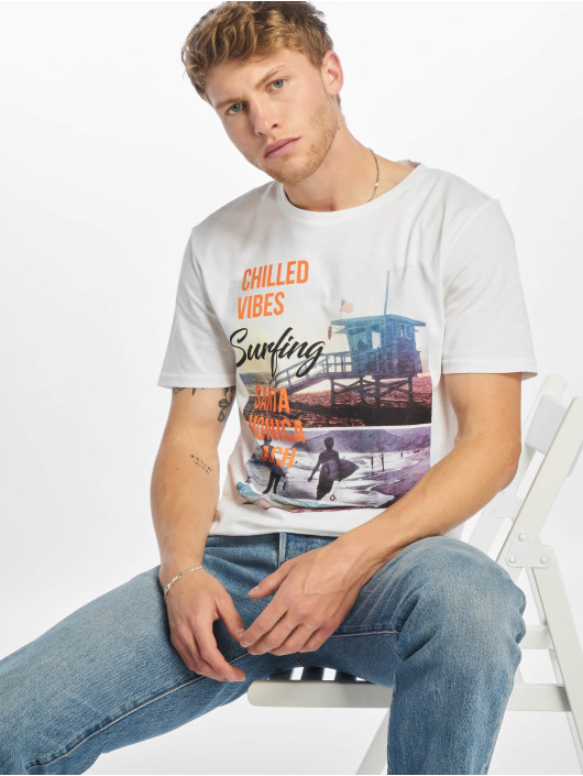 Only & Sons Camiseta onsLayrence Camp blanco