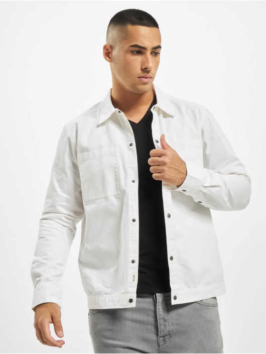 Only & Sons Chemise onsCris Herringbone Twill Overshirt blanc